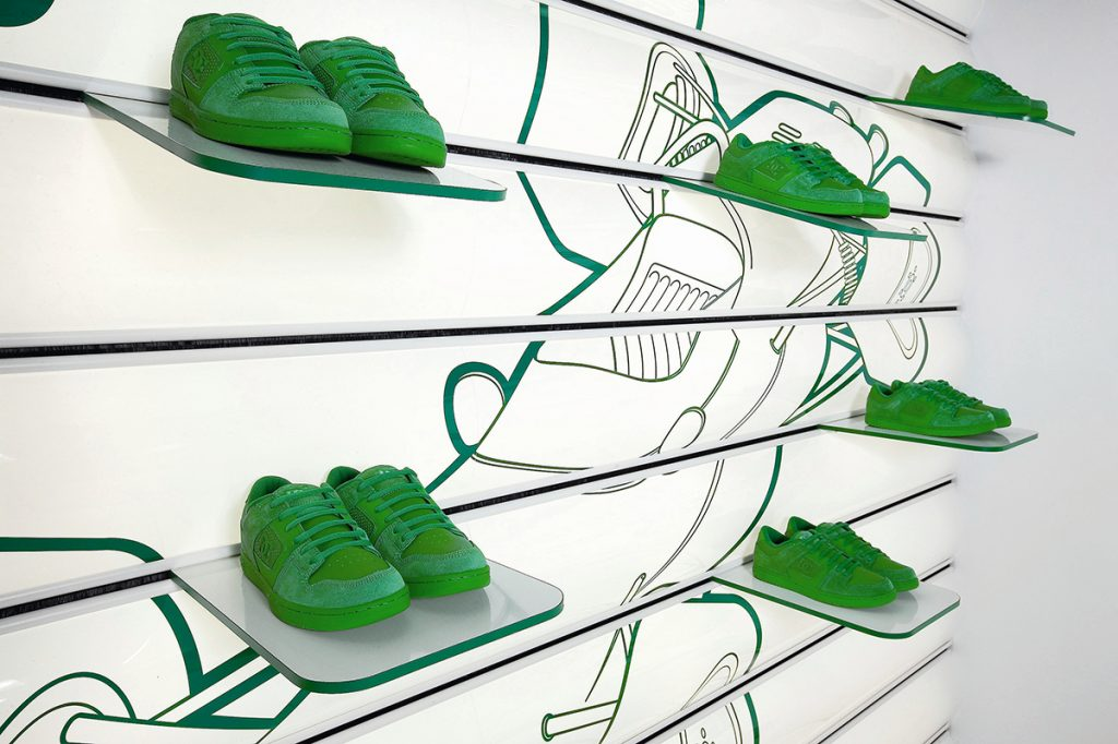 Zapatillas en baldas personalizadas