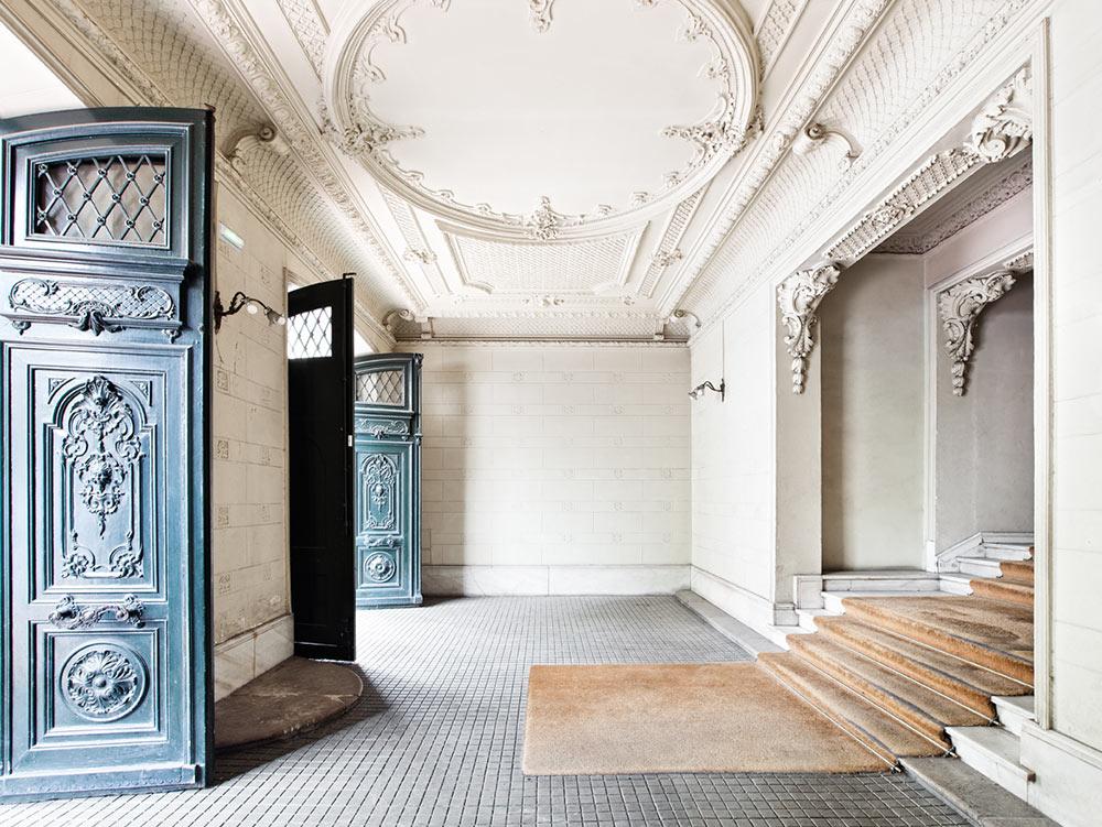 Hall de entrada del edificio Velázquez 21
